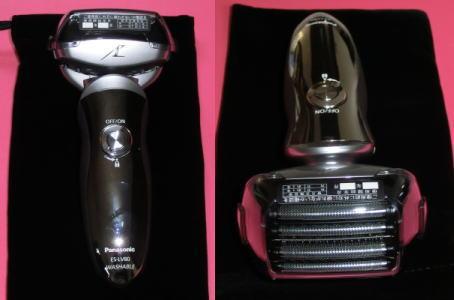 電気シェーバー panasonic  ES-LV80 本体正面と5枚刃