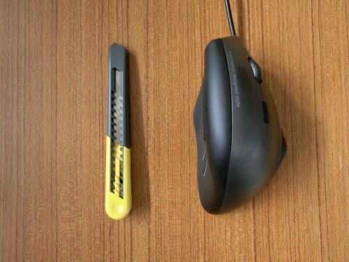 カッターとMA-ERG7マウス