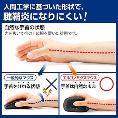 腱鞘炎対策マウス 解説画像